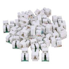 50PCS RJ45 Cat5e Network LAN Cable Module Wall Plug Jack Adapter White