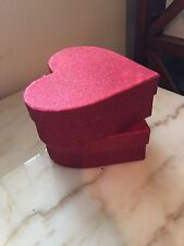 Paparus Red Heart Glitter Boxes valentines Day Wedding Christmas Love Engagement