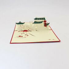 Jiangnan Featured Handmade Creative Landscape Stereo Greeting Card Paper-cut B