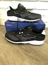 Mizuno Dominant As Men's Black/White Size 12 Baseball Cleats Shoes