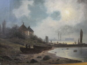 Oil Painting by Listed Danish Artist Georg Emil Libert 1877 Wonderful Sky LOOK