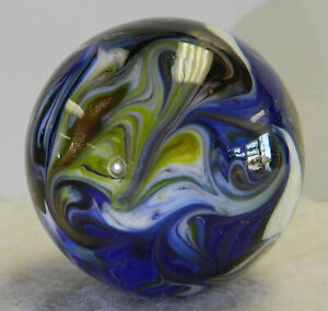 #13170m Beautiful Handmade Contemporary Marble With Lutz 1.51 Inches