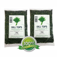 Dill Weed Tops - 200g Dried Herb - Premium Quality Guaranteed - Chilli Wizards