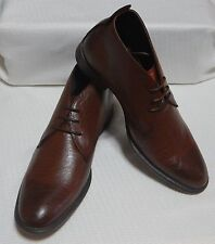 KENNETH COLE CHUKKA BOOT LACE UP ROUND TOE( COGNAC ) NEW SIZE 10 M  #1490-1