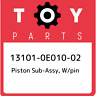 13101-0E010-02 Toyota Piston sub-assy, w/pin 131010E01002, New Genuine OEM Part