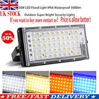 LED Security Floodlight 50W Flood Lights Indoor Outdoor Garden Waterproof Lamp!!