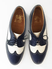 Church's Vintage Navy Blue White Leather Women's Spectator Laceups Uk Size 4