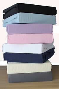 Super Soft Premium Quality 100% Cotton Jersey Fitted Sheet,Cot (60 x 120 cm),