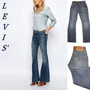 jeans levis 544 da donna a zampa vita alta pantaloni levi's denim vintage w26 40