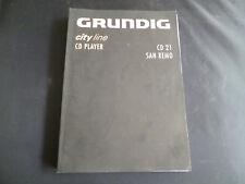 Original Bedienungsanleitung Grundig CD 21