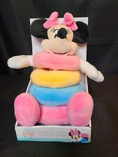 New listing Disney Baby Minnie Mouse Soft Plush Stacking Rings Learning Toy New
