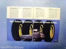 QUATTROR990-PUBBLICITA'/ADVERTISING-1990- PIAGGIO APE POKER -2 fogli
