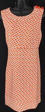 Vineyard Vines Womens Dress  Size 16 Orange Pattern A Line Sheath By Shep & Ian