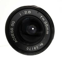 Access SQ 35mm F2.8 M42 Mount Prime Lens - Declicked - Fully Working #LS-2055