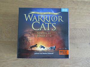 Warrior Cats Hörbücher Die Macht der Drei III Staffel 30 CD´s Erin Hunter