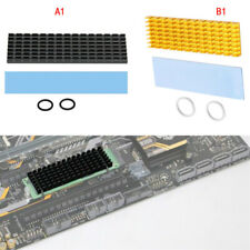 For NVME M.2 NGFF PCI-E SSD Pure Aluminum Cooling Cooler Heatsink Therm ghj tyu