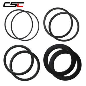 1 Pair 700C Carbon Rims Tubular/Clincher/Tubeless 20/24 Holes Road Bicycle Rims