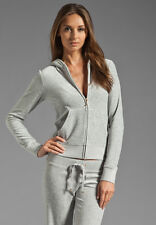 JUICY COUTURE GREY VELOUR HOODIE LARGE