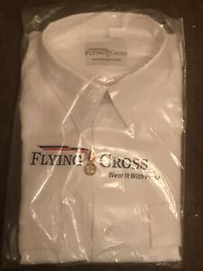Flying Cross Mens Large White Dress Uniform Shirt Commissioned Officer