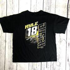 NASCAR Kyle Busch #18 Bold Joe Gibbs Racing Black Tee Shirt 2017 Schedule   1608