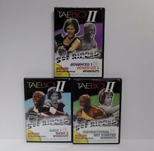Tae Bo II Introduction Basic 1 & 2 & Advanced 3 DVD Set Cardio Workout Fitness