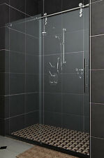 Frameless Wall to Wall Sliding Door 8mm Glass Adjustable width 2000-2400mm