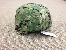Navy Seal NWU 3 AOR2 Helmet Cover WoodlandCamo L/XL ACH MICH Devgru NSW Marsoc