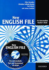 Oxford NEW ENGLISH FILE Pre-Intermediate Teacher's Book+CD-ROM New 9780194518888