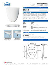 LC212-000 WHITE Toilet Seat for American Standard
