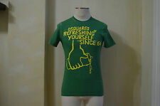 DSQUARED² REFRESHING YOURSELF SINCE 64 WASH OUT STAINED GREEN SLIM FIT T SHIRT S