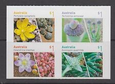 Australia 2017 Australian Succulents mint unhinged set 4 Booklet stamps.