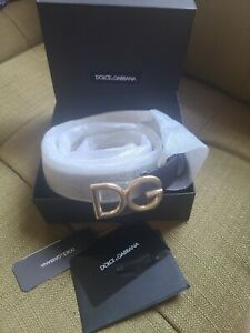 Dolce & Gabbana belt with logo Sz 85