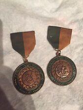 2 Vintage 1977 / 78 Edison High School  Chargers MEDAL Ribbon Award. Gymnastics
