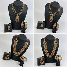 Indian Bollywood Jewellery Necklace Earrings & Maang Tikka Wedding Bridal Sets