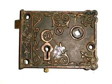 Antique C20 Rim Lock Very Ornate late 1800's