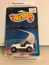 #20 Jeep CJ-7 3953 * White * 1987 Malaysia * Vintage Hot Wheels * E38