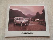 Land Rover Discovery 1990-91. Brochure V8i TDi Pub. No. LRD 557. Near MINT