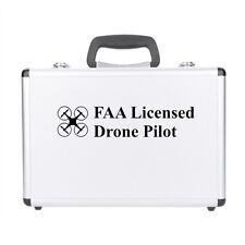 FAA Licensed Drone Pilot vinyl decal car sticker UAS Certified Registered BLACK