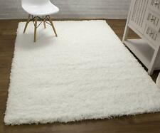 Super Area Rugs Contemporary Modern Plush Soft Shag Solid Area Rug in White