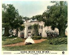 GONE WITH THE WIND Original British Lobby Card  Vivien Leigh Tara mansion