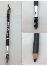London Girl Professional Eyebrow Dark Brown Pencil With Brush & Sharpener £0.99