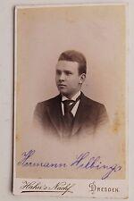 27883 CDV Porträt Foto von Hermann Helbing 1895 Atelier Hahns Nachf. Dresden