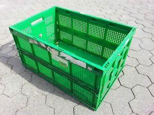 6x Klappboxen, Faltboxen, 60x40, Transportboxen, Lagerboxen, Kunststoff