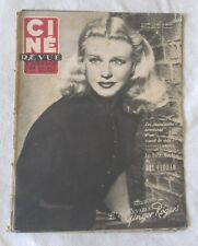 CINE-REVUE 27 juin 1952 GINGER ROGERS FERNANDEL Gino CERVI GENE KELLY