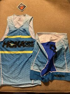 Men's Hoka One One Running Singlet Compression Shorts M Skinsuit Speedsuit