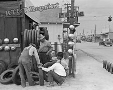 Historical Photograph of a Tire Store in Corpus Christi, Texas 1939    8x10