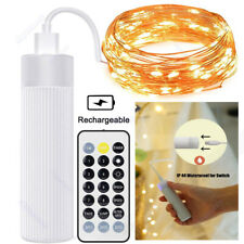 Rechargeable 10M Fairy String Lights 50 100 LED Christmas Tree Indoor & Outdoor