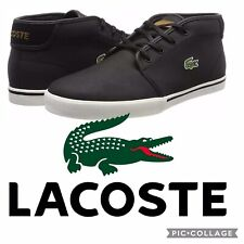 Lacoste Ampthill Chukka Leather Mid Top Sneakers Shoes Men's Size US 10 Brown
