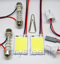 2x Universal Dome Panel light COB 18 LED SMD White V12 T10 Festoon Bright Lamp
