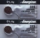 2Pcs Energizer 373 (SR916SW) Silver Oxide Watch Batteries